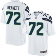 NFL Michael Bennett Seattle Seahawks Limited Road Nike Jersey - White