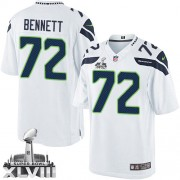 NFL Michael Bennett Seattle Seahawks Limited Road Super Bowl XLVIII Nike Jersey - White