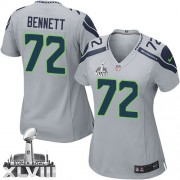 NFL Michael Bennett Seattle Seahawks Women's Elite Alternate Super Bowl XLVIII Nike Jersey - Grey
