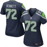 NFL Michael Bennett Seattle Seahawks Women's Game Team Color Home Nike Jersey - Navy Blue