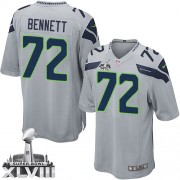 NFL Michael Bennett Seattle Seahawks Youth Elite Alternate Super Bowl XLVIII Nike Jersey - Grey