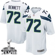 NFL Michael Bennett Seattle Seahawks Youth Elite Road Super Bowl XLVIII Nike Jersey - White
