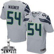 NFL Bobby Wagner Seattle Seahawks Elite Alternate Super Bowl XLVIII Nike Jersey - Grey