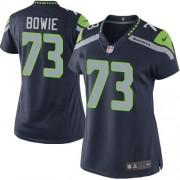 NFL Michael Bowie Seattle Seahawks Women's Elite Team Color Home Nike Jersey - Navy Blue
