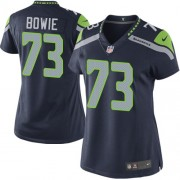 NFL Michael Bowie Seattle Seahawks Women's Limited Team Color Home Nike Jersey - Navy Blue
