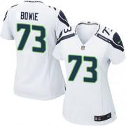 NFL Michael Bowie Seattle Seahawks Women's Limited Road Nike Jersey - White