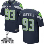 NFL O'Brien Schofield Seattle Seahawks Elite Team Color Home Super Bowl XLVIII Nike Jersey - Navy Blue