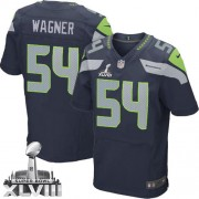 NFL Bobby Wagner Seattle Seahawks Elite Team Color Home Super Bowl XLVIII Nike Jersey - Navy Blue