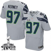 NFL Patrick Kerney Seattle Seahawks Elite Alternate Super Bowl XLVIII Nike Jersey - Grey