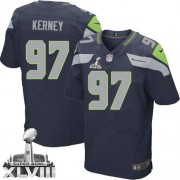 NFL Patrick Kerney Seattle Seahawks Elite Team Color Home Super Bowl XLVIII Nike Jersey - Navy Blue