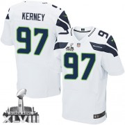 NFL Patrick Kerney Seattle Seahawks Elite Road Super Bowl XLVIII Nike Jersey - White