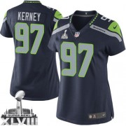 NFL Patrick Kerney Seattle Seahawks Women's Elite Team Color Home Super Bowl XLVIII Nike Jersey - Navy Blue