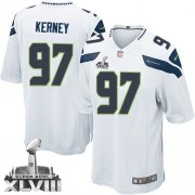 NFL Patrick Kerney Seattle Seahawks Youth Elite Road Super Bowl XLVIII Nike Jersey - White