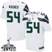 NFL Bobby Wagner Seattle Seahawks Elite Road Super Bowl XLVIII Nike Jersey - White
