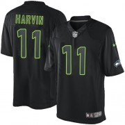 NFL Percy Harvin Seattle Seahawks Elite Nike Jersey - Black Impact