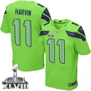 NFL Percy Harvin Seattle Seahawks Elite Alternate Super Bowl XLVIII Nike Jersey - Green