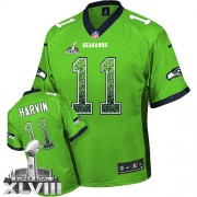 NFL Percy Harvin Seattle Seahawks Elite Drift Fashion Super Bowl XLVIII Nike Jersey - Green
