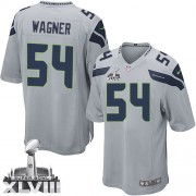 NFL Bobby Wagner Seattle Seahawks Game Alternate Super Bowl XLVIII Nike Jersey - Grey