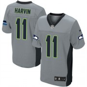 NFL Percy Harvin Seattle Seahawks Elite Nike Jersey - Grey Shadow
