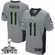 NFL Percy Harvin Seattle Seahawks Elite Super Bowl XLVIII Nike Jersey - Grey Shadow