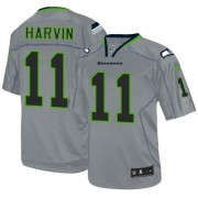 NFL Percy Harvin Seattle Seahawks Elite Nike Jersey - Lights Out Grey
