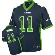 NFL Percy Harvin Seattle Seahawks Elite Drift Fashion Nike Jersey - Navy Blue