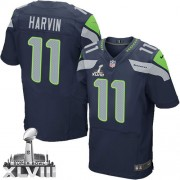 NFL Percy Harvin Seattle Seahawks Elite Team Color Home Super Bowl XLVIII Nike Jersey - Navy Blue