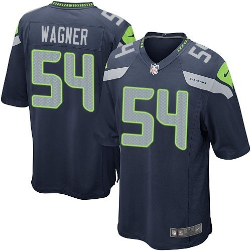 NFL Bobby Wagner Seattle Seahawks Game Team Color Home Nike Jersey - Navy Blue