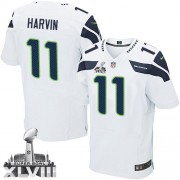NFL Percy Harvin Seattle Seahawks Elite Road Super Bowl XLVIII Nike Jersey - White