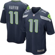 NFL Percy Harvin Seattle Seahawks Game Team Color Home Nike Jersey - Navy Blue