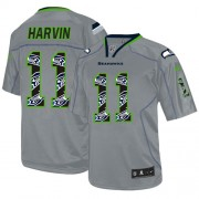 NFL Percy Harvin Seattle Seahawks Game New Nike Jersey - Lights Out Grey
