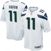 NFL Percy Harvin Seattle Seahawks Game Road Nike Jersey - White