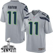 NFL Percy Harvin Seattle Seahawks Limited Alternate Super Bowl XLVIII Nike Jersey - Grey