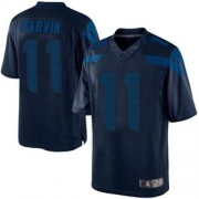 NFL Percy Harvin Seattle Seahawks Limited Drenched Nike Jersey - Navy Blue