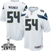 NFL Bobby Wagner Seattle Seahawks Game Road Super Bowl XLVIII Nike Jersey - White