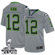 NFL 12th Fan Seattle Seahawks Elite Super Bowl XLVIII Nike Jersey - Lights Out Grey