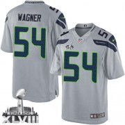 NFL Bobby Wagner Seattle Seahawks Limited Alternate Super Bowl XLVIII Nike Jersey - Grey