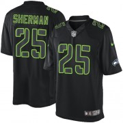 NFL Richard Sherman Seattle Seahawks Elite Nike Jersey - Black Impact