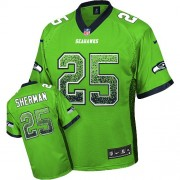 NFL Richard Sherman Seattle Seahawks Elite Drift Fashion Nike Jersey - Green