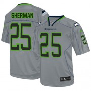 NFL Richard Sherman Seattle Seahawks Elite Nike Jersey - Lights Out Grey