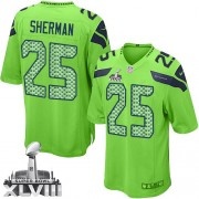 NFL Richard Sherman Seattle Seahawks Game Alternate Super Bowl XLVIII Nike Jersey - Green