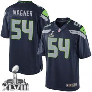 NFL Bobby Wagner Seattle Seahawks Limited Team Color Home Super Bowl XLVIII Nike Jersey - Navy Blue