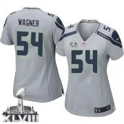 NFL Bobby Wagner Seattle Seahawks Women's Elite Alternate Super Bowl XLVIII Nike Jersey - Grey