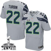 NFL Robert Turbin Seattle Seahawks Elite Alternate Super Bowl XLVIII Nike Jersey - Grey