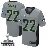 NFL Robert Turbin Seattle Seahawks Elite Super Bowl XLVIII Nike Jersey - Grey Shadow