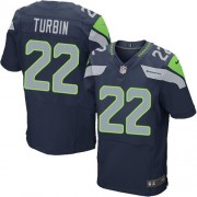 NFL Robert Turbin Seattle Seahawks Elite Team Color Home Nike Jersey - Navy Blue