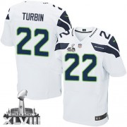 NFL Robert Turbin Seattle Seahawks Elite Road Super Bowl XLVIII Nike Jersey - White