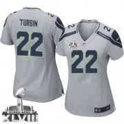 NFL Robert Turbin Seattle Seahawks Women's Elite Alternate Super Bowl XLVIII Nike Jersey - Grey