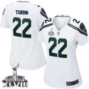 NFL Robert Turbin Seattle Seahawks Women's Elite Road Super Bowl XLVIII Nike Jersey - White