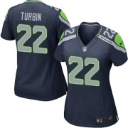 NFL Robert Turbin Seattle Seahawks Women's Game Team Color Home Nike Jersey - Navy Blue